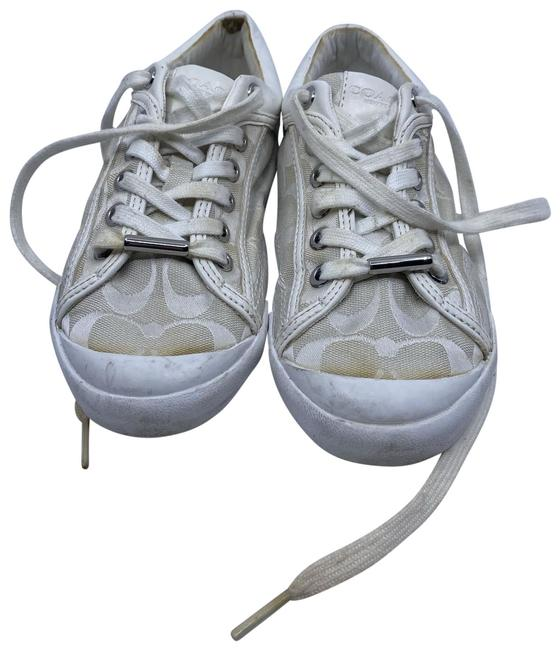 Item - White Cream Women's Sneakers Size US 6.5 Regular (M, B)