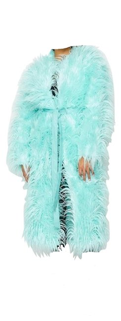 Item - Blue Mint Shaggy Coat Size 10 (M)