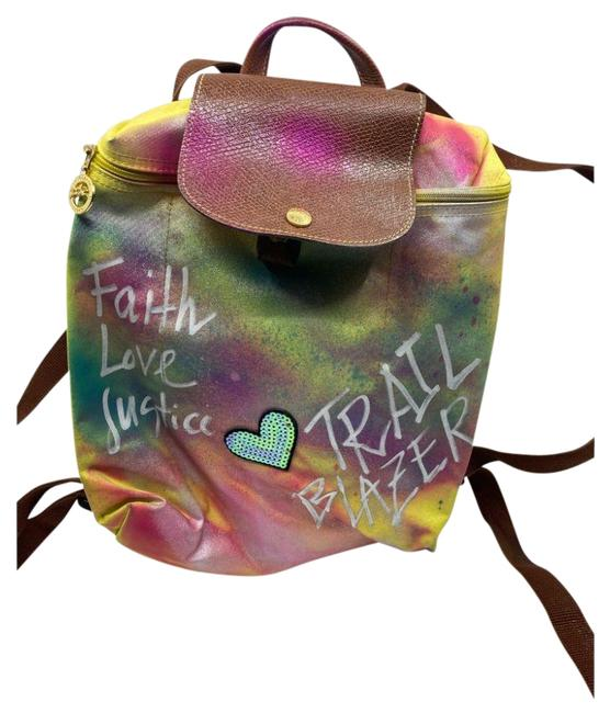 Item - Customized W/ Multicolor Yellow Green Pink Backpack