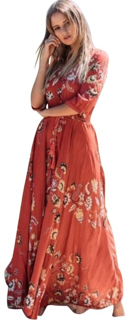 Item - Red XL Indiana Boho Floral Casual Maxi Dress Size 16 (XL, Plus 0x)