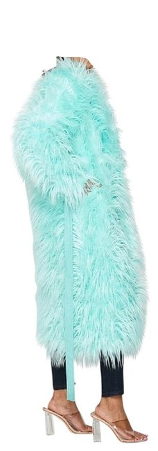 Item - Mint Geen Blue Shaggy Coat Size 12 (L)