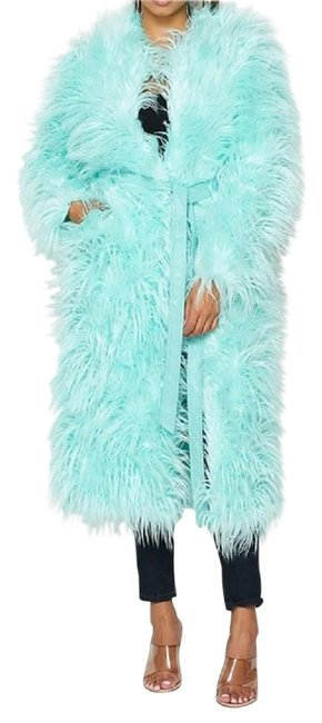 Item - Mint Geen Blue Shaggy Sm Coat Size 6 (S)