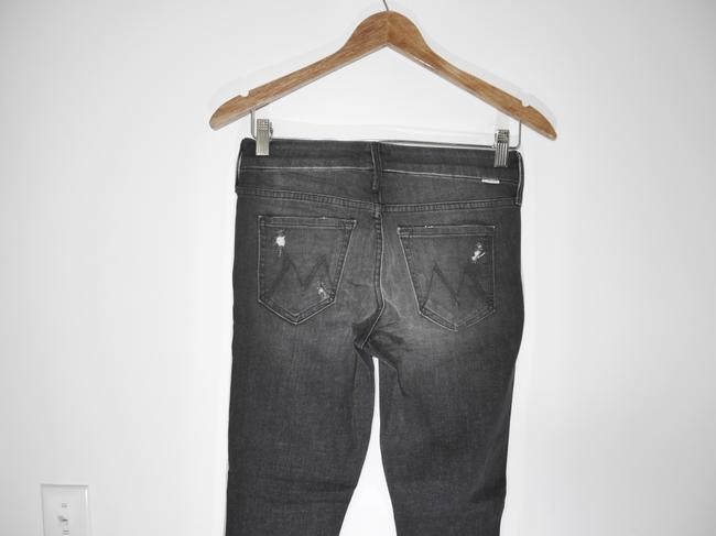 Mother Black Distressed Looker Ankle Snippet Raw Hem In Between A Rock and A Hard Place Skinny Jeans Size 25 (2, XS) Mother Black Distressed Looker Ankle Snippet Raw Hem In Between A Rock and A Hard Place Skinny Jeans Size 25 (2, XS) Image 2