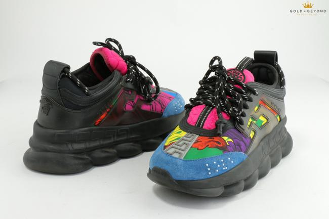 Item - Multicolor Chain Reaction Panelled Neoprene Sneakers Shoes