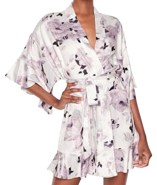 Item - XS Floral Flounce Robe Xs/S Lilac Top