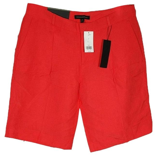 "Item - Orange Avery 10.5"" Linen Blend Shorts Size 4 (S, 27)"