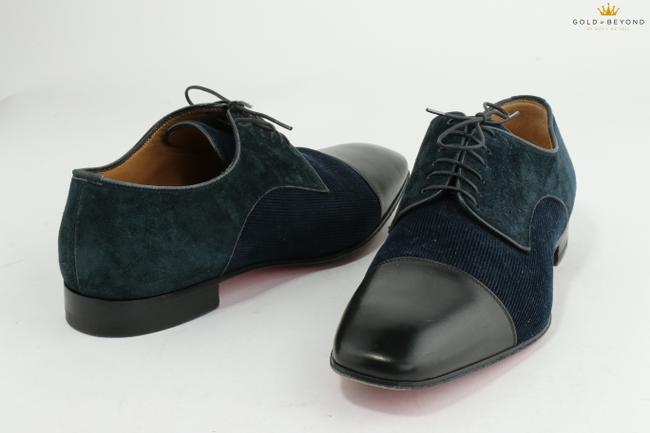 Item - Blue/Black Men's Greggo Leather and Suede Oxford Shoes