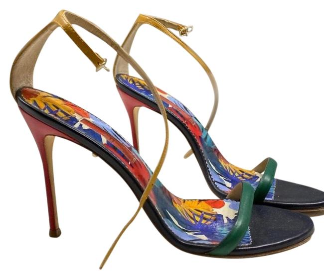 Item - Red Yellow and Green. Colorful Heels Formal Shoes Size EU 39.5 (Approx. US 9.5) Regular (M, B)