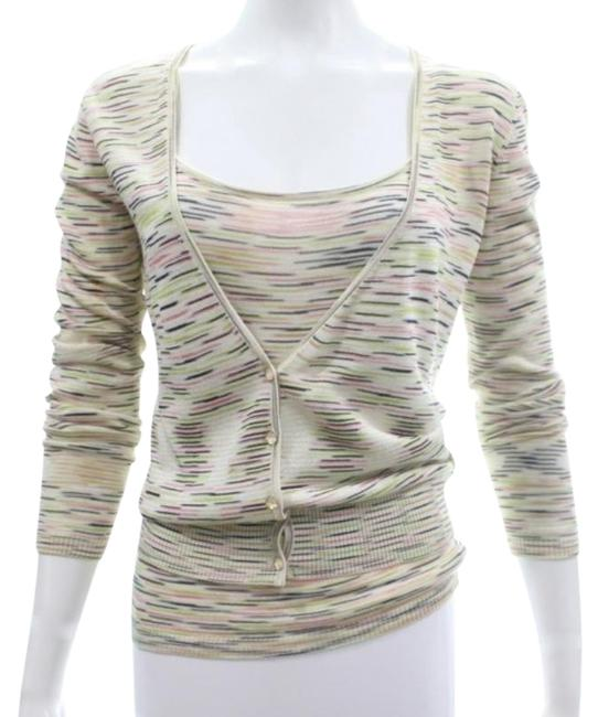 Item - Pink/Brown/Gold/Lime/White Tops/Designer Clothes Cardigan Size 8 (M)