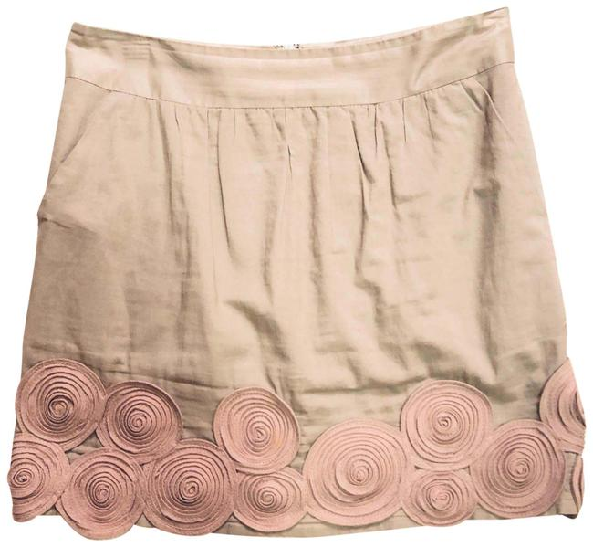 Item - Beige Tan Embroidered Skirt Size 2 (XS, 26)