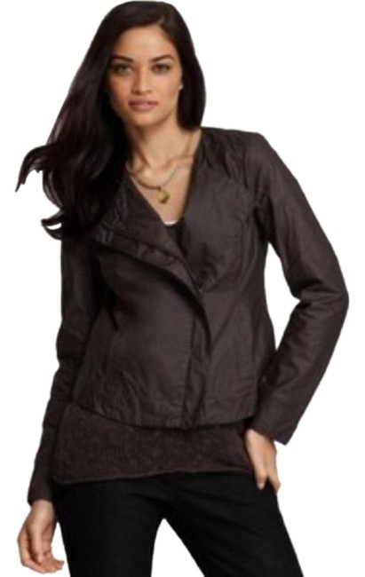 Item - Brown Asymmetrical Zip Jacket Size 4 (S)