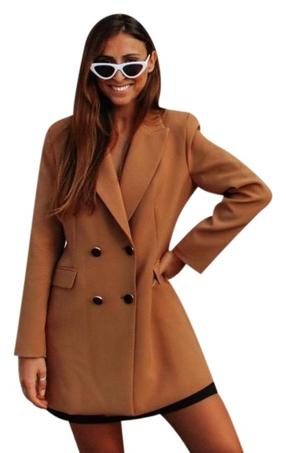 Item - Brown Double Breasted Frock Coat Buttoned Blazer Size 16 (XL, Plus 0x)