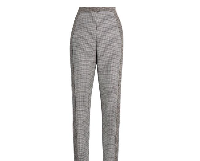 Item - Gray and Brown Rc500841 Houndstooth Print Wool Pants Size 14 (L, 34)