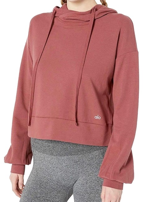 Item - Red Social Long Sleeve Hooded Activewear Top Size 8 (M)
