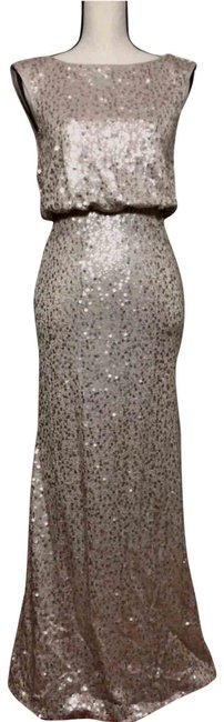 Item - Light Gold Sequins By Long Formal Dress Size 2 (XS)