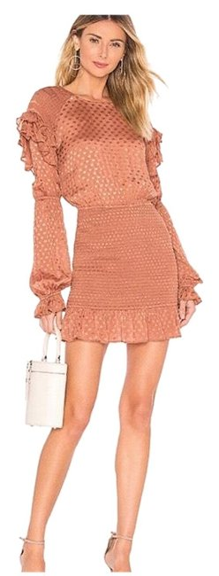 Item - Copper Edie Smocked Short Night Out Dress Size 6 (S)