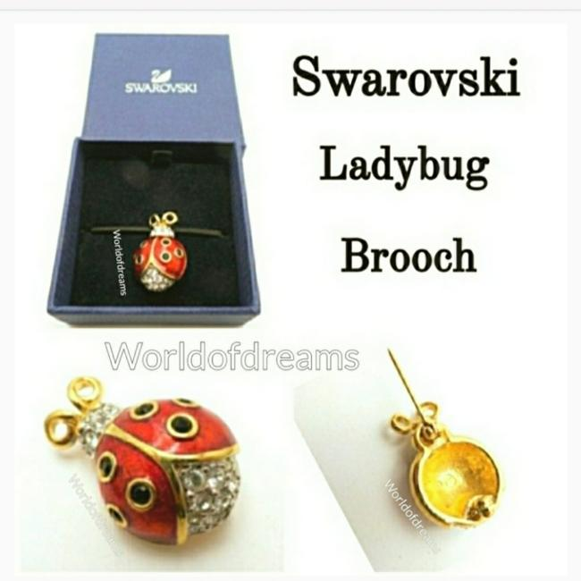 Item - Gold Black Red Vtg. Ladybug Brooch 24k