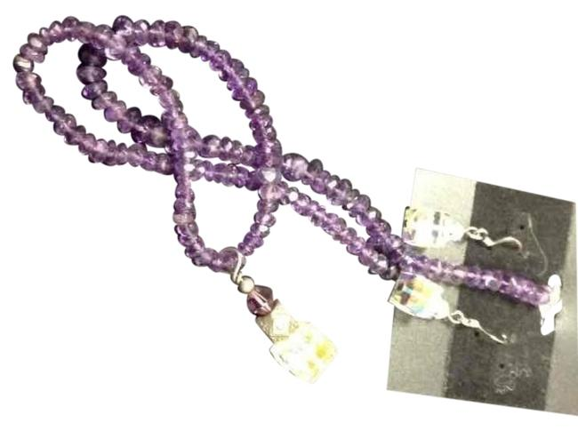 Item - Purple Crystal/Amethyst Necklace/Earring Set Necklace