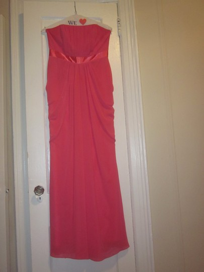 David's Bridal Coral Destination Bridesmaid/Mob Dress Size 8 (M)