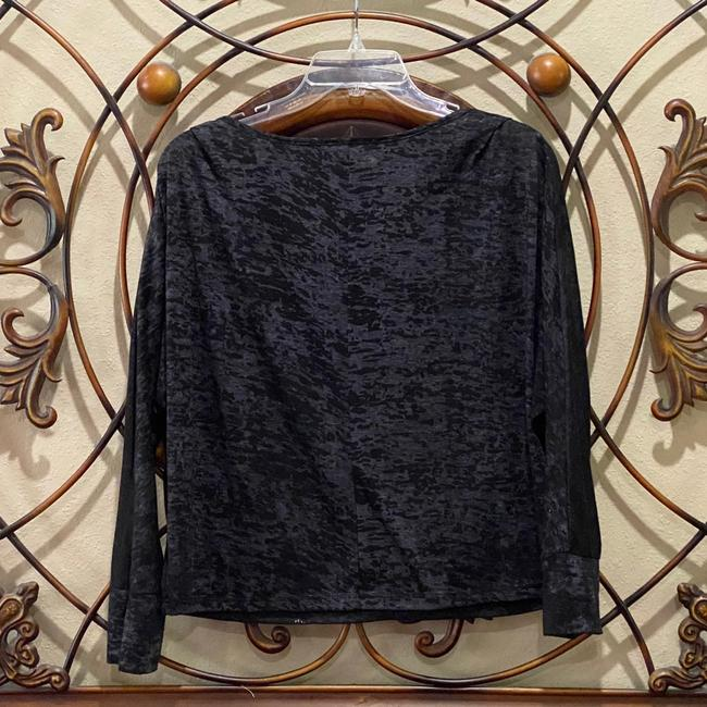 CB Casual Grey/Black/Silver Burnout Butterfly Longsleeve Tee Shirt Size 8 (M) CB Casual Grey/Black/Silver Burnout Butterfly Longsleeve Tee Shirt Size 8 (M) Image 3