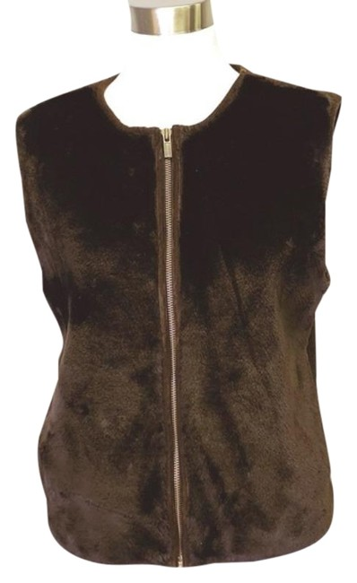 Item - Brown Casual Vest Size 10 (M)