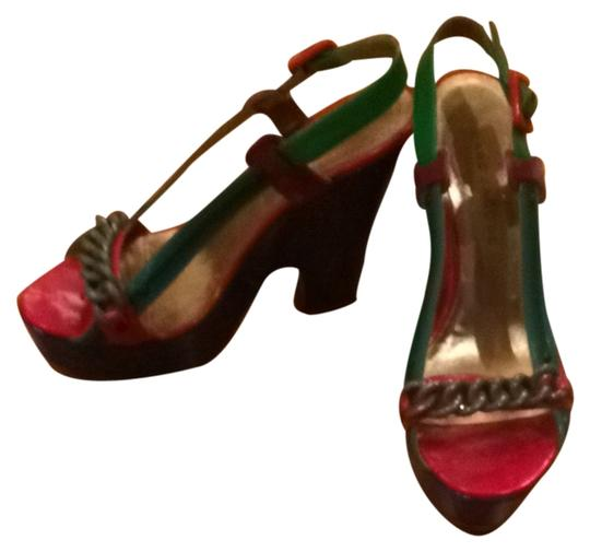 Marc Jacobs Red Green Blue Platforms