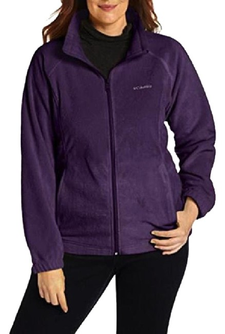 Columbia Sportswear Company Purple Benton Springs Full-zip Fleece Jacket Activewear Size 2 (XS) Columbia Sportswear Company Purple Benton Springs Full-zip Fleece Jacket Activewear Size 2 (XS) Image 1
