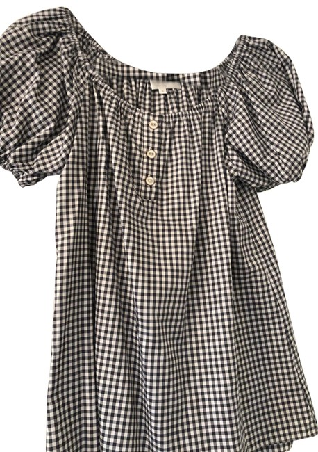 Item - Black and White Gingham Blouse Size 4 (S)