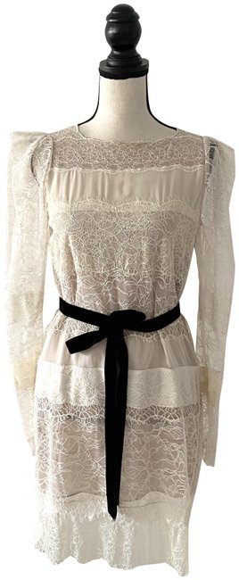 Item - Beige XS Lace Long Sleeve Mid-length Cocktail Dress Size 0 (XS)