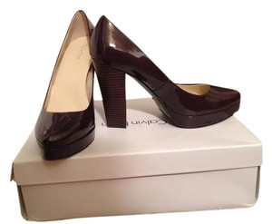 Calvin Klein Nordstrom Brand New Stacked Wood Size 9 Purple, Plum Platforms