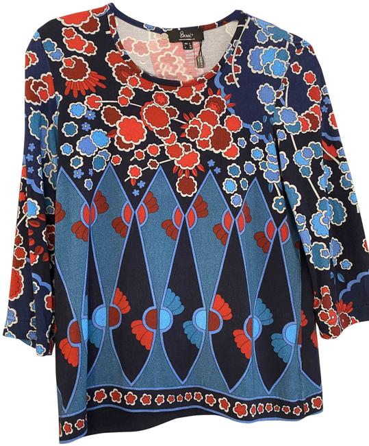 Item - Muti Color Print 3/4 Sleeve Style#ts5906 Mes Blouse Size 6 (S)