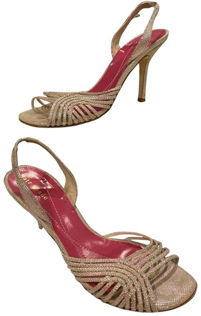 Item - Gold with Silver Sparkly Dots Lola Pumps Size US 7.5 Regular (M, B)