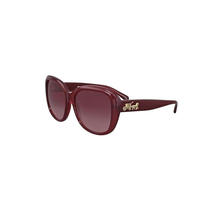Item - Red Frame & Burgundy Gradient Lens Hc8207 54508h Women's Square Sunglasses