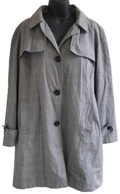 Item - Black Hooded & Gray Houndstooth Coat Size 18 (XL, Plus 0x)