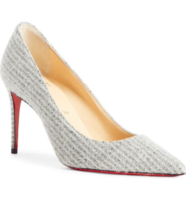 Item - Grey Kate Flanelle 85mm Tennis Point-toe Leather Pumps Size EU 37 (Approx. US 7) Regular (M, B)
