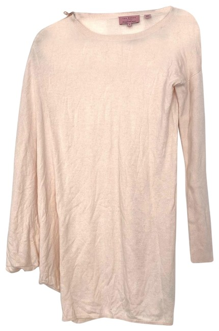 Item - Pink Womens Zipper Sweater Short Casual Dress Size 0 (XS)