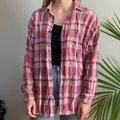 American Vintage Pink And Turquoise Plaid Long Sleeve Button-down Top Size 16 (XL, Plus 0x) American Vintage Pink And Turquoise Plaid Long Sleeve Button-down Top Size 16 (XL, Plus 0x) Image 2