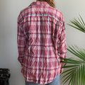 American Vintage Pink And Turquoise Plaid Long Sleeve Button-down Top Size 16 (XL, Plus 0x) American Vintage Pink And Turquoise Plaid Long Sleeve Button-down Top Size 16 (XL, Plus 0x) Image 3