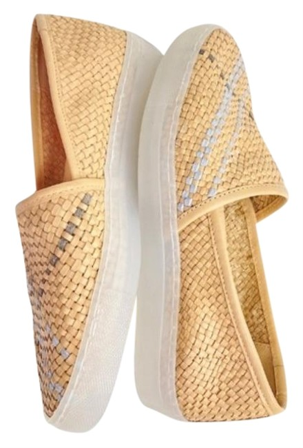 Item - Tan Woven Slip On Sneakers | 36 Flats Size US 6 Regular (M, B)