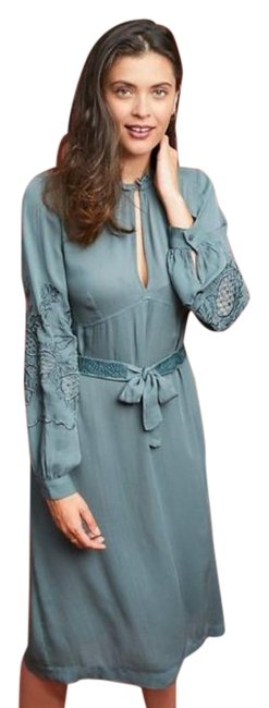 Item - Green Stella Forest Nuage Blue 38 Mid-length Work/Office Dress Size 8 (M)