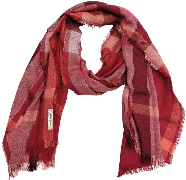 Item - Coral Red Chk Signature Check Silk Blend 3878390 Scarf/Wrap