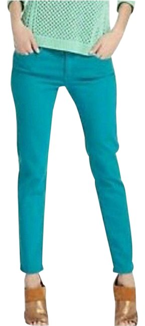 Item - Green Stevie Ankle Slim Straight Leg Turquoise 26r Skinny Jeans Size 26 (2, XS)