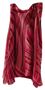 Context Skirt Pink with red, brown and other colors