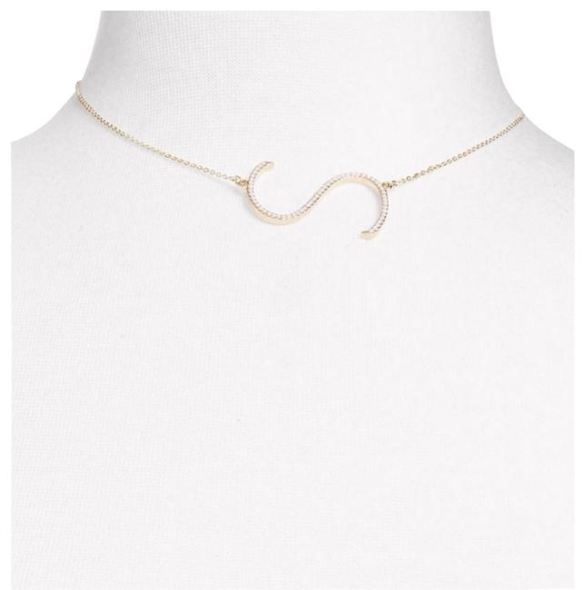Evereve Gold Colored Initial Pendant Letter S Necklace Evereve Gold Colored Initial Pendant Letter S Necklace Image 1