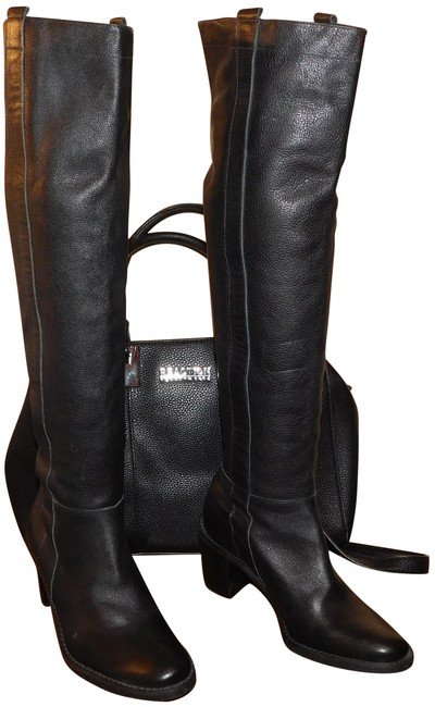 Item - Black Leather Boots/Booties Size US 6.5 Regular (M, B)