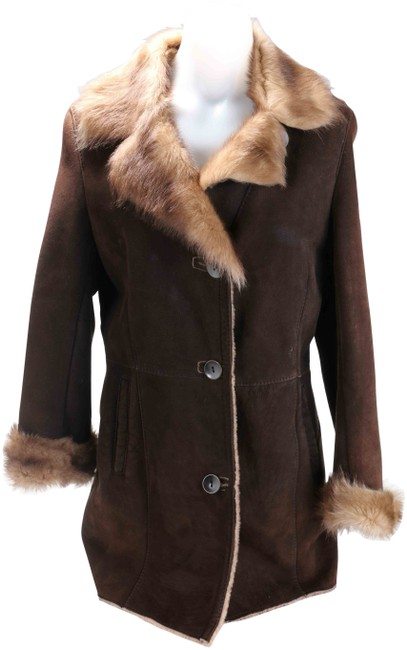 Item - Brown Shearling Coat Size 6 (S)