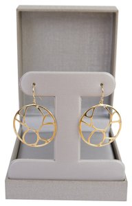Zales Zales 14K Contemporary Circle Diamond Accent Earrings in Yellow Gold - NEW