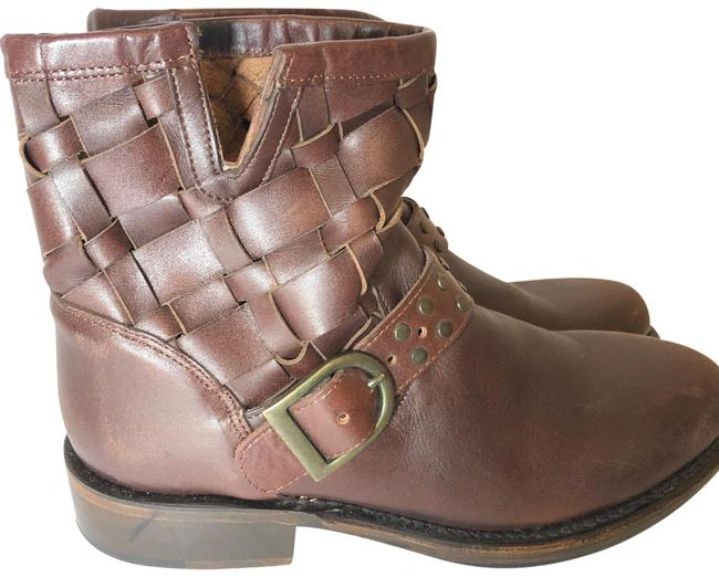 Item - Brown Wooven Ankle Boots/Booties Size US 7.5 Regular (M, B)