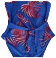 Forever 21 Blue Swimsuit Strapless Frond Leaf S One-piece Bathing Suit Size 4 (S) Forever 21 Blue Swimsuit Strapless Frond Leaf S One-piece Bathing Suit Size 4 (S) Image 1