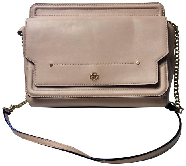 Item - Beige/Blush Faux Leather Cross Body Bag